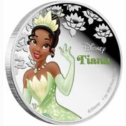 Disney Princess Tiana 1oz Silver Proof Coin Limited Edition New Zealand 2016