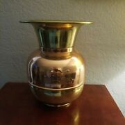 Union Pacific Railroad Spittoon 11and039and039 Vintage Spitoon Copper Brass Train Rr