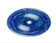 Lapis Lazuli Stone Sink Oval Shape Counter Top Sink For Hall Room 24 X 19 Inches