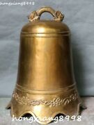 24 Collection China Bronze Dragon Loong Bell Pattern Horologe Gong Bells Statue