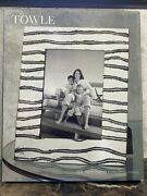 Towle Silversmiths Rick Rack 5x7 Cast Aluminum Picture Frame Perfect New In Box