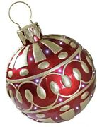Giant 28in Tall Led Light Up Christmas Ornament Dt