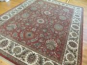 8x10 Tabrize Vegetable Dye Oriental Area Rug Wool Hand-knotted Rust Green Gold