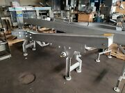 Stainless Steel 6 X 9and039 Incline Washdown Conveyor With Plastic Belt. 230/480v