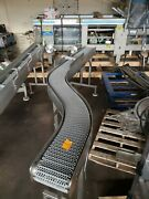 Stainless Steel 8 X 10and039 Washdown Conveyor With Plastic Belt 120v
