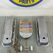 Chevy Bbc 15 Half Finned Air Cleaner Valve Covers Engine Dress Up Kit 454 496