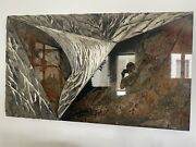 Laddie John Dill Large Glass And Cement Art Piece 42x72x21/2