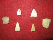 6 Well Used Authentic Arkansas 2 Scrapers 4 Mississippian Artifacts Arrowheads