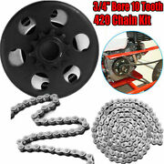 Centrifugal Go Kart Clutch 3/4 Bore 10 Tooth With 420 Chain Kit 6.5hp Engine