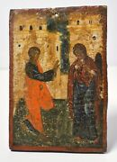Scarce 16 Andndash 17cc Antique Russian Icon Annunciation Of Our Lady