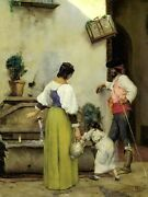 At The Water Trough By J Alden Weir Museum Quality Print + Ships Free