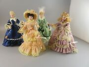 Victorian Design Lady Figurines For Doll House 6 Inch T Bisque Head Arms Legs 4