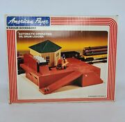 American Flyer 4-2300 's' Gauge Automatic Operating Oil Drum Loader 1983 Sealed