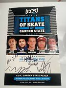 Rare Poster Titans Of Skate At Garden State. 2011. Signature