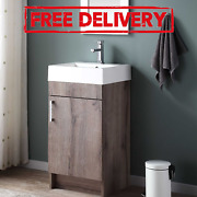 Farmhouse Bathroom Vanity With Cabinet And Sink Set Small Bath Combo Wood 17.75