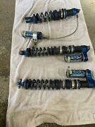 Motowoz Triple Rate Shock Set Front And Rear Long Travel Front Kfx450r Kfx