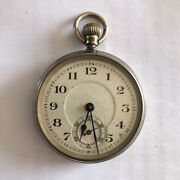 Antique Pocket Watch Ticking Unknown Maker For Service / Repair See Descript