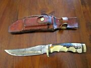 Vtg Schrade Usa Uncle Henry Golden Spike Hunting Knife 153uh And Leather Sheath