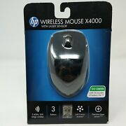 Hp Wireless Mouse X4000 Winter Black With Laser Sensor 2.4 Ghz 30ft, 4446