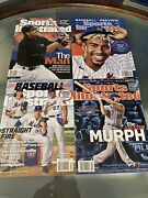 New York Mets Sports Illustrated Magazine Lot Of 4 Piazza Lindor Murphy Degrom