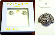 Eye Candy Los Angeles Poodle Puppy Dog 925 Silver Cz Earrings Stud Labradoodle