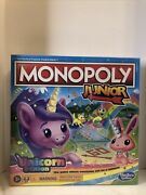 Monopoly Junior Unicorn Edition Board Game Magical-themed For 2-4 Players