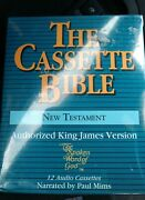 King James Bible On Cassette New Testament Sealed Paul Mims Narration Tape