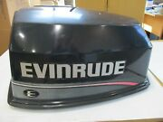 Evinrude Outboard Hood Off A 1995 Year 115 Hp Motor