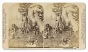 F. Jay Haynes Stereoview Hunting / Camping On Yellowstone 1283