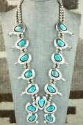 Turquoise And Sterling Silver Squash Blossom - Teddy Goodluck