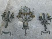 Antique French Victorian Neoclassical Bronze Brass Wall Sconces Parts Or Repair