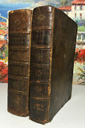 Scotts Holy Bible Vol. I And Ii 1814 - 1816 Rare Antique Leather Cover
