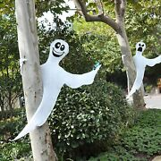 53 Halloween Bendable Tree Wrap Ghost 2 Pack Outdoor Ghost Party Supplies