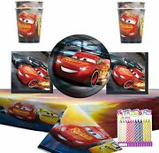 Cars 3 Party Supplies Pack Serves 16 Dinner Plates Luncheon Napkins Cups And Ta