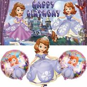 Sofia The First Party Supplies | Balloons | For Girl | Banner | Backdrop | Birth