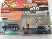 Johnny Lightning Tow And Go Series Toy Jeep Cherokee Sport And Bbq Food Trailer