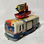 Cragstan Tin Toy Rca Nbc Battery Operated Mobile Color Tv Truck Van Works Video