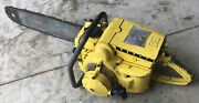 Vintage Rare Mcculloch 1-40 Chainsaw With Bar And Chain Sss