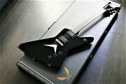 Used Dean Ex Model Made In Usa Black Electric Guitar Free Shipping