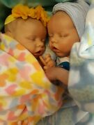 Reborn Twins Cloth Body. 17 In Realistic. Affordable🌼. Age 3 And Up