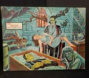 Vintage 1963 Jaymar Inlaid Picture Dracula Jigsaw Puzzle Universal Monsters
