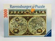 New Ravensburger 1994 World Puzzle Map 3000 Pieces Original Made In Germany