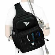 Fishing Tackle Sling Shlouder Backpackcross Body Sling Bag Without Tackle Box
