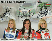 Force Family Hand Signed 8x10 Color Photo+coa  Signed By All 3 Sexy Sisters