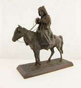 19th Century Iron Russian Cossack Statue On A Horse - Kasli Foundry A.ober