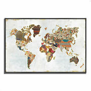Tangletown Pattern World Map By Laura Marshall Wall Art 622904-5738p126