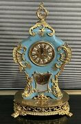 1 Of A Kind Antique Porcelain Clock Made With Gold And Other Beautiful Elements