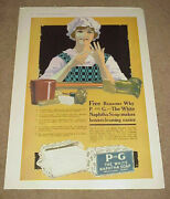 1917 Magazine Ad === Proctor And Gamble - P And G The White Naphtha Soap