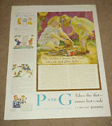 1933 Magazine Ad === Proctor And Gamble - P And G - The White Naptha Soap