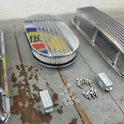 Chevy Bbc 15 Half Finned Air Cleaner Engine Dress Up Kit Breathers 496 V8 454